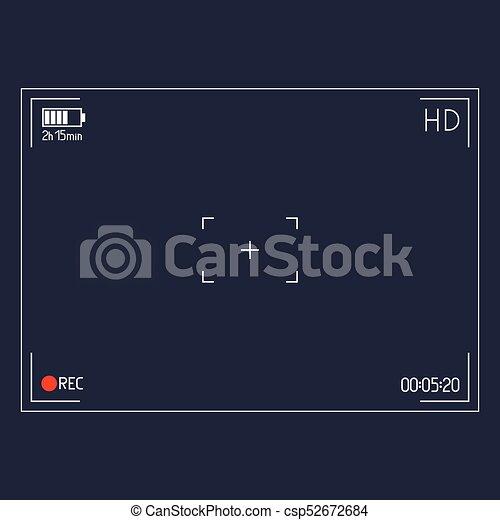 Camera viewfinder. Editable Stroke - csp52672684