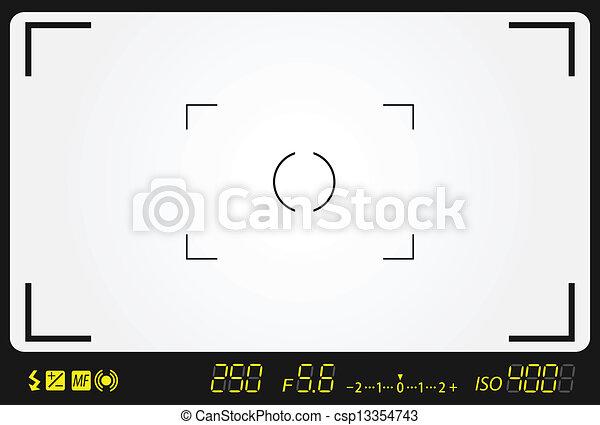 camera viewfinder  - csp13354743
