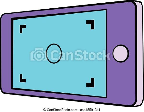 Camera viewfinder icon cartoon - csp45591341