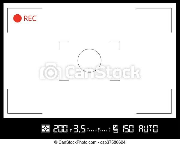 camera viewfinder screen - csp37580624