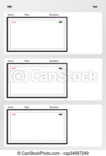 Camera Viewfinder Storyboard Template  Frame Professional
