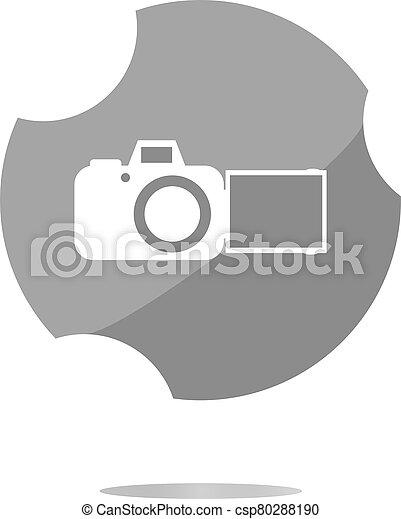 camera web icon isolated on white background - csp80288190