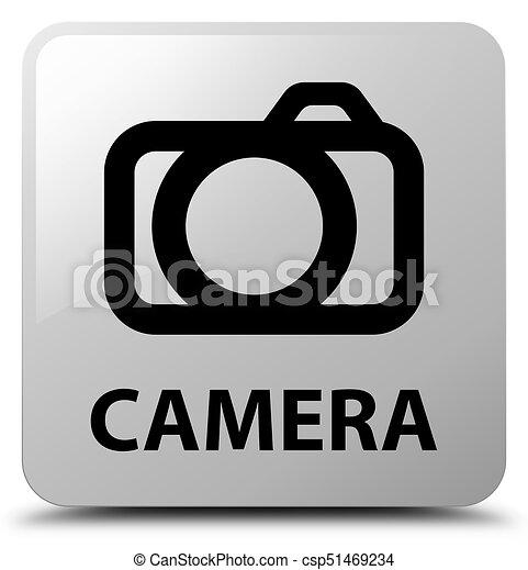 Camera white square button - csp51469234