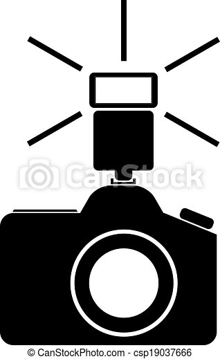camera with flash vector illustration clip art vector search rh canstockphoto com