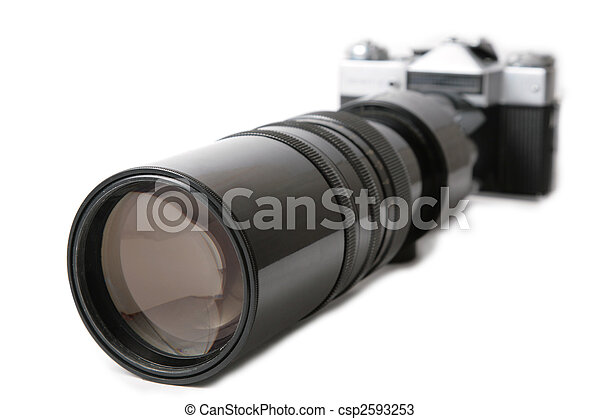 Camera with large lens - csp2593253