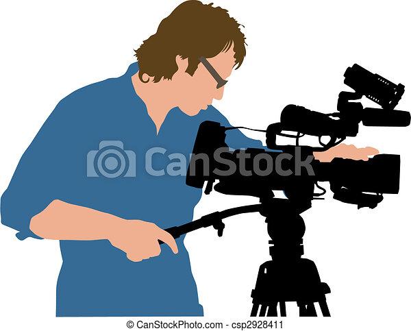 cameramans - csp2928411