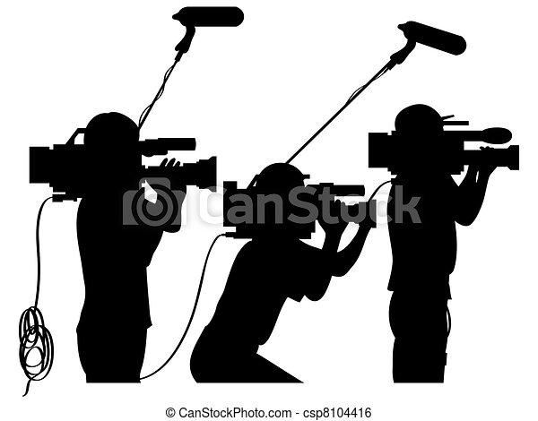 Cameramen at work - csp8104416