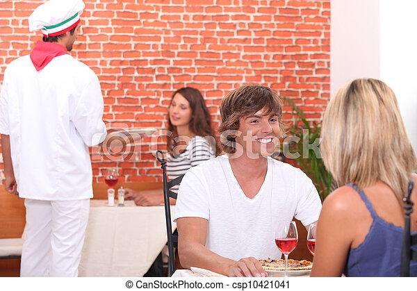 cameriere, pizza, lavorativo, ristorante - csp10421041