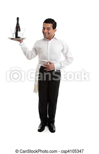 cameriere, sorridente, barista, o - csp4105347