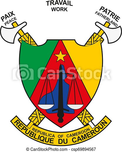 Cameroon coat of arms seal or national emblem - csp69894567