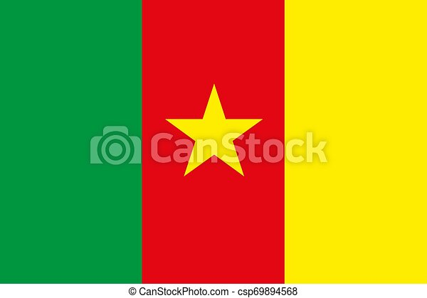 Cameroon flag Flat vector illustration EPS10 - csp69894568