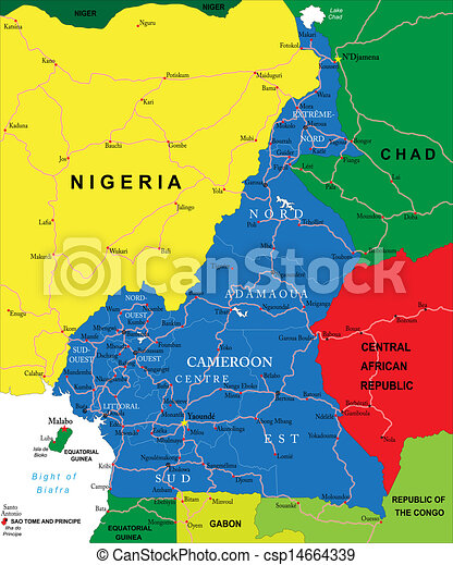 Cameroon Map - csp14664339