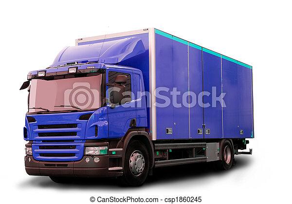 Un camión tractor aislado - csp1860245