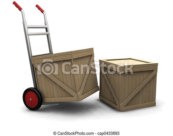 Un camión con cajas - csp0433893