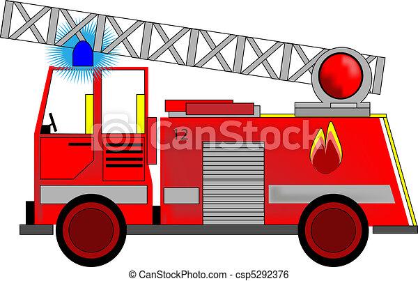 Ilustración del motor de incendio - csp5292376