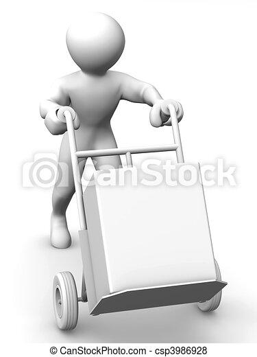 Hombre con camión - csp3986928
