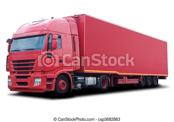 Camión rojo - csp3682863
