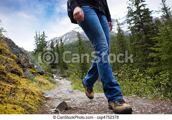 caminata, detalle, montañas - csp4752378