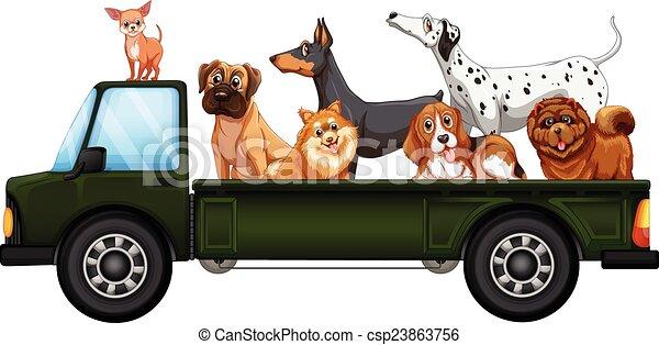 caminhão, cachorros - csp23863756
