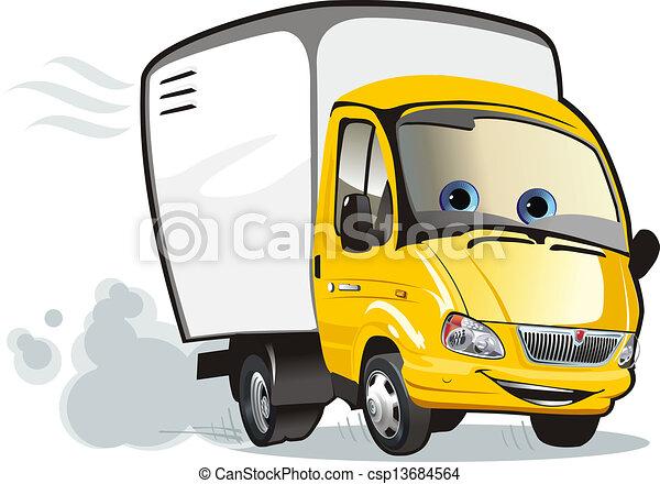 caminhão, caricatura - csp13684564