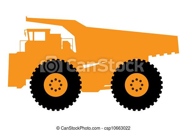 caminhão, entulho, pesado - csp10663022