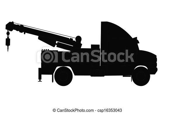 caminhão reboque, dever, pesado - csp16353043