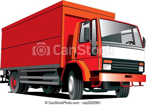 caminhão, vermelho - csp3222961