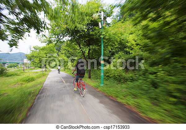caminhada, bicicleta - csp17153933