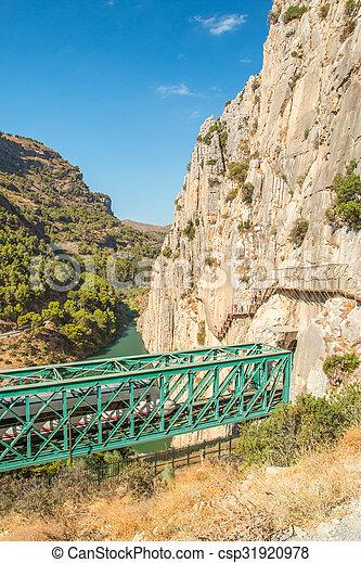 Caminito del Rey in Malaga - csp31920978