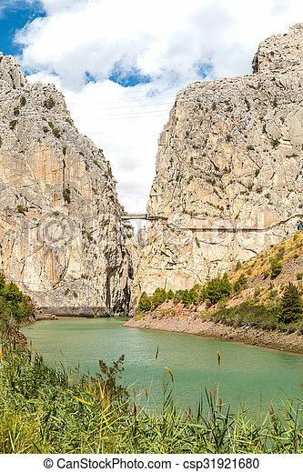Caminito del Rey in Malaga - csp31921680