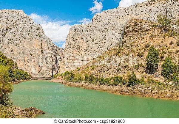 Caminito del Rey in Malaga - csp31921908
