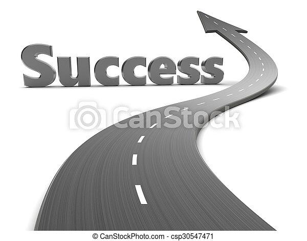 Camino al éxito - csp30547471