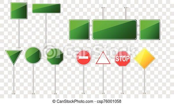 camino, conjunto, señales - csp76001058