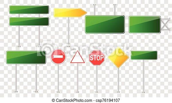 camino, conjunto, señales - csp76194107