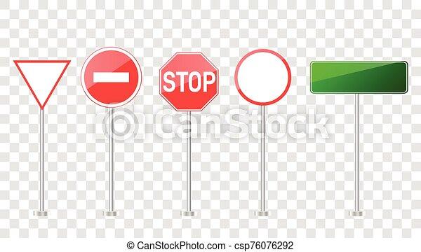camino, conjunto, señales - csp76076292