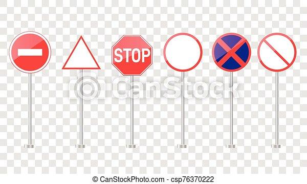 camino, conjunto, señales - csp76370222