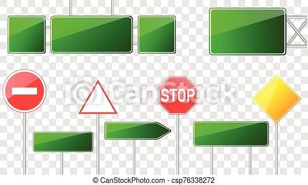 camino, conjunto, señales - csp76338272