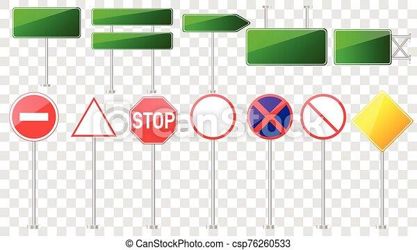 camino, conjunto, señales - csp76260533