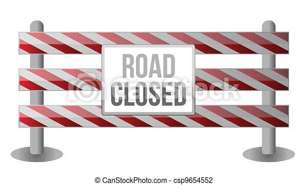 Un único camino cerrado - csp9654552