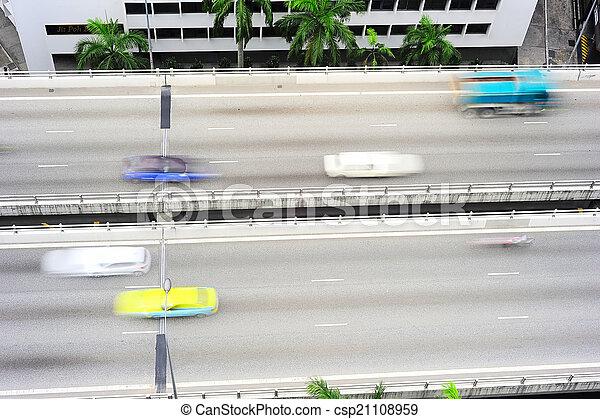 Camino urbano, Singapur - csp21108959