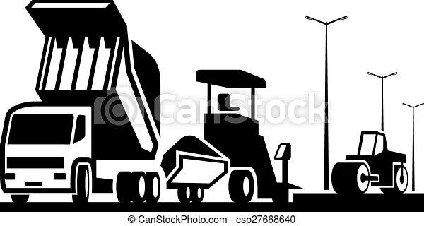 Construcción de carreteras - csp27668640
