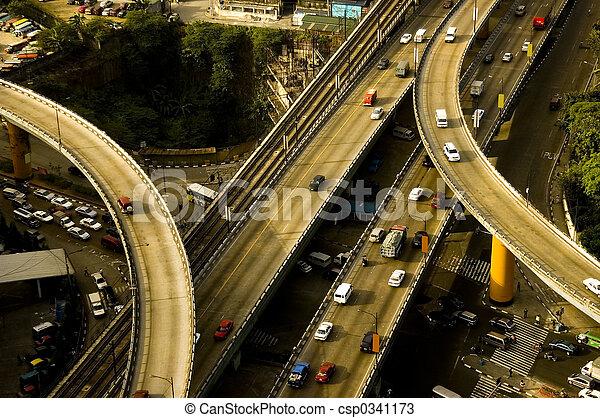 Las carreteras Filipinas - csp0341173