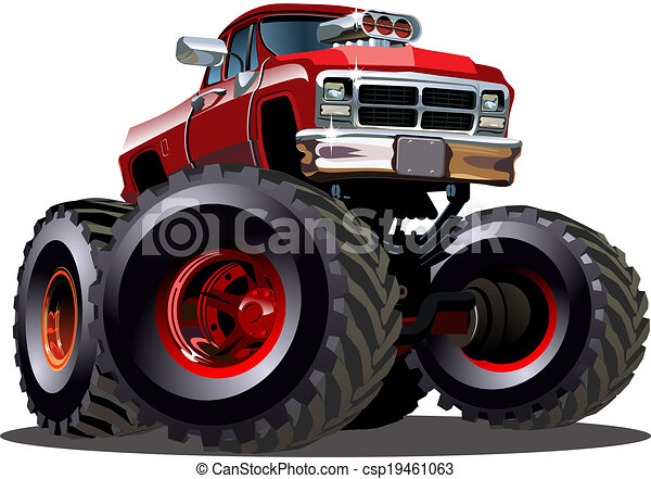 camion, cartone animato, mostro - csp19461063