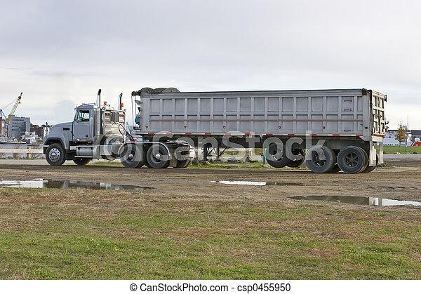 camion, décharge - csp0455950