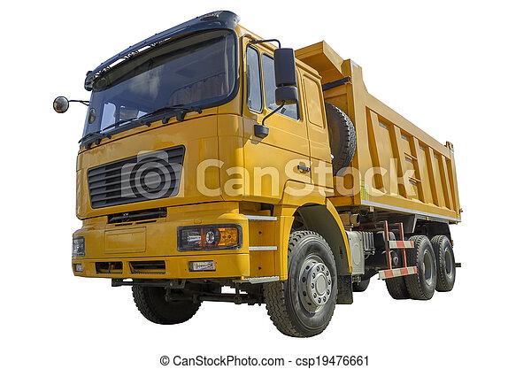 camion, décharge - csp19476661