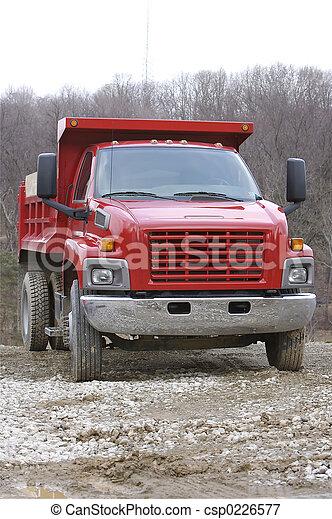 camion, décharge - csp0226577
