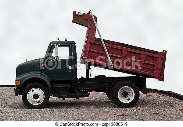 camion, décharge - csp13880519