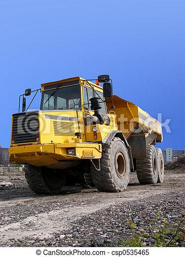 camion, décharge - csp0535465