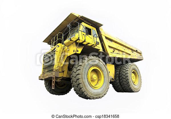 camion, décharge - csp18341658