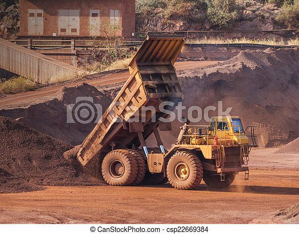 camion, décharge - csp22669384